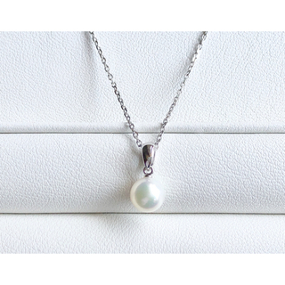ミキモト(MIKIMOTO)のMIKIMOTO  アコヤ真珠ネックレス K18WG   (ネックレス)