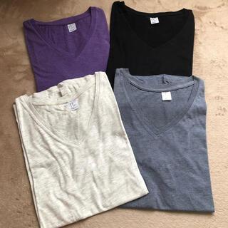 H&M - H&M VネックTシャツ 4枚セット