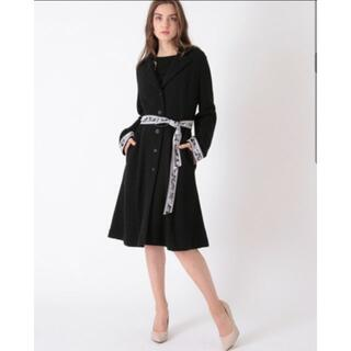 LEONARD - ☆タグ付き未使用品☆ レオナール 中綿ロングベスト付きコート 大きいサイズ42