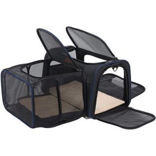 犬 キャリーバッグ 拡張 ペット 小型犬 通気性 軽量 折り畳み お出かけ