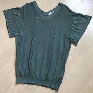 オゾック(OZOC)のカーキトップス(カットソー(半袖/袖なし))