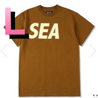 【Lサイズ】WDS SEA S/S T-SHIRT / BROWN-BEIGE