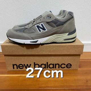 New Balance - 27cm 新品未使用 ニューバランス M991ANI グレー 20周年記念モデル