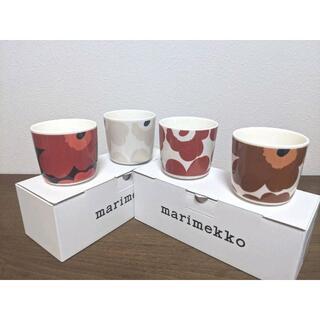 マリメッコ(marimekko)のマリメッコ marimekko ラテマグ ウニッコ 4個  新品      (グラス/カップ)