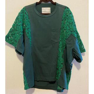 サカイ(sacai)のsacai レース切り替えTシャツ サカイ サイズ1 (Tシャツ/カットソー(半袖/袖なし))