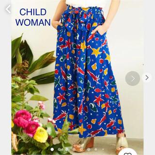 CHILD WOMAN - CHILD WOMAN 「海のモチーフ」プリント パジャマパンツ