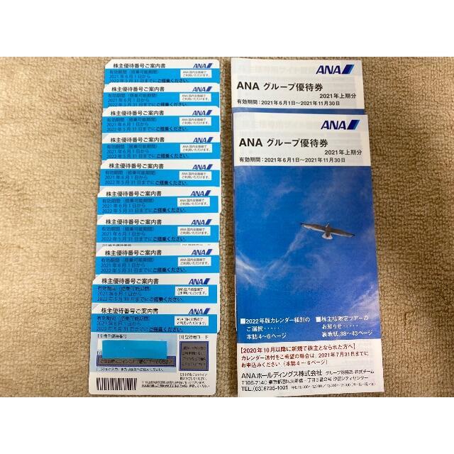 ANA(全日本空輸)(エーエヌエー(ゼンニッポンクウユ))のANA 全日空 全日本空輸 株主優待券 10枚 + 冊子 2冊⑥ チケットの優待券/割引券(その他)の商品写真