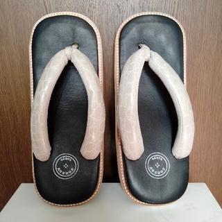 サン駄 (江戸前 sandal) レザー雪駄 seesaw tokyo LIFT(下駄/草履)
