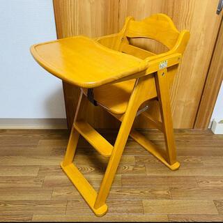 カトージ(KATOJI)のKATOJI 木製 ハイチェア ベビーチェア テーブル付き カトージ(その他)