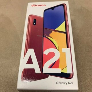 Galaxy - Galaxy A21 sc42A レッド simフリー