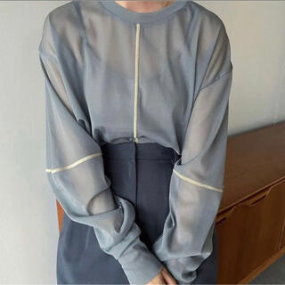 STUDIOUS - CLANE  クラネ SOLID SLEEVE SHEER L/S TOPS