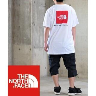 ザノースフェイス(THE NORTH FACE)の新品ノースフェイス ホワイト/白 Tシャツ サイズM ブランドロゴ(Tシャツ/カットソー(半袖/袖なし))