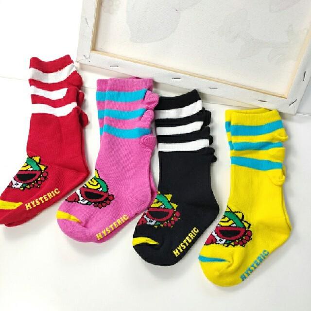 HYSTERIC MINI(ヒステリックミニ)のベビー靴下4点まとめ売り キッズ/ベビー/マタニティのこども用ファッション小物(靴下/タイツ)の商品写真