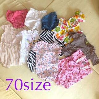 ザラキッズ(ZARA KIDS)の70サイズ 夏服まとめ売り(ロンパース)