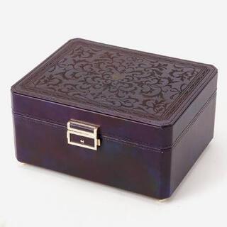 agete - 現行品 39,600円 agete アクセサリーボックス * ケース 革 レザー