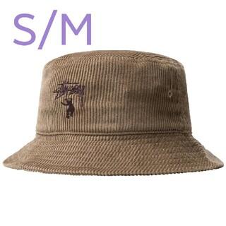 ステューシー(STUSSY)のSTUSSY UNION CORDUROY BUCKET HAT ブラウン(ハット)
