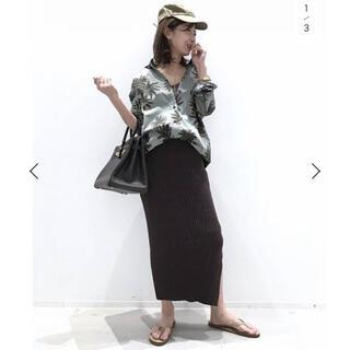 L'Appartement DEUXIEME CLASSE - L'Appartement Boucle スカート ブラウン 36サイズ
