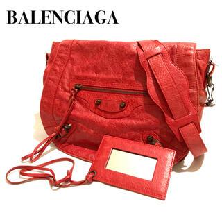 Balenciaga - BALENCIAGA VOLK バレンシアガ フォルク レザーショルダーバッグ