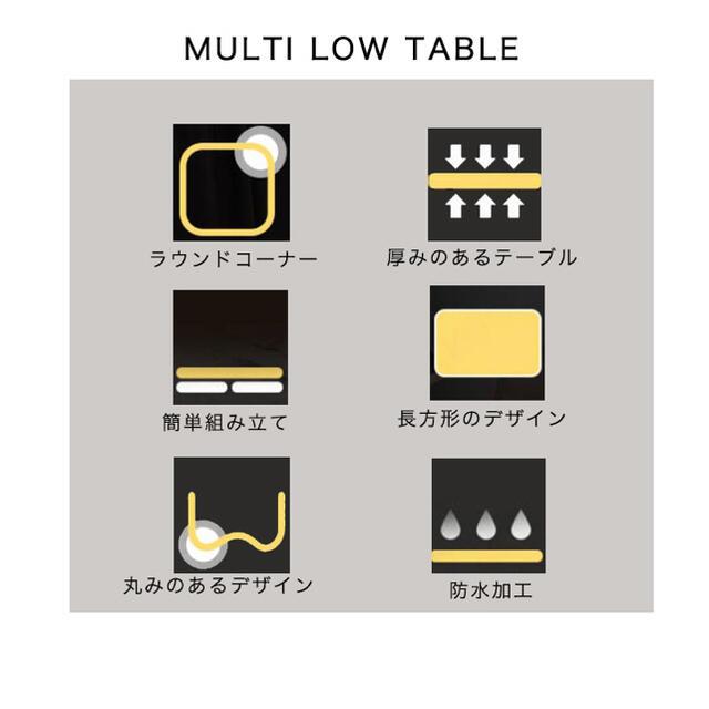 デスク テーブル ローテーブル ミニテーブル 折りたたみ 折りたたみ インテリア/住まい/日用品の机/テーブル(ローテーブル)の商品写真