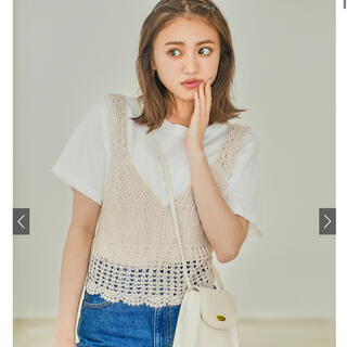 GRL - GRL かぎ針編みビスチェXTシャツセット