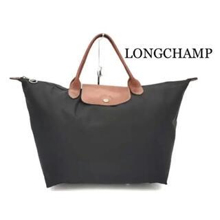 ロンシャン(LONGCHAMP)のLONGCHAMP ブラックトートバッグ Lサイズ(トートバッグ)
