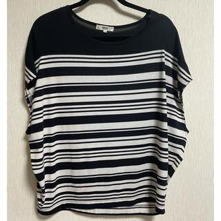 オゾック(OZOC)のOZOC ドルマン袖 ボーダーTシャツ(Tシャツ(半袖/袖なし))