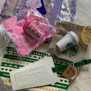 Starbucks Coffee - スターバックス ネームタグ&ポーチ、バック、ミニカップ 5点セット