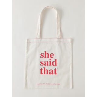 靴下屋 - she  said  that トートバッグ
