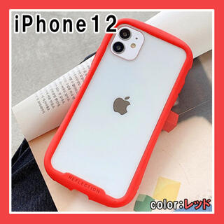 iPhone12 ケース シンプル かわいい スマホ 韓国 人気 赤 F