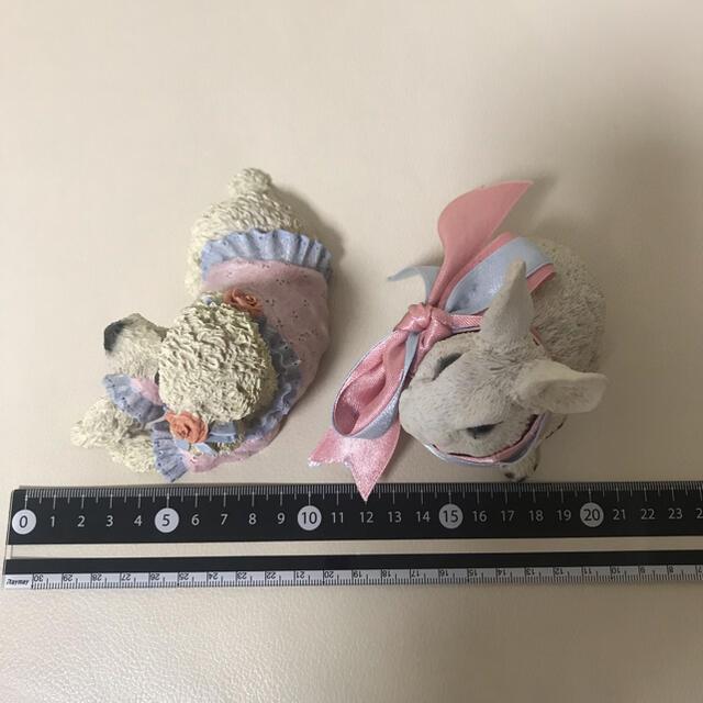 Francfranc(フランフラン)のアンティークプードル&うさぎさん置物セット インテリア/住まい/日用品のインテリア小物(置物)の商品写真