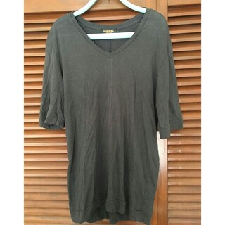 DIESEL - ディーゼル Tシャツ Vネック ブラック