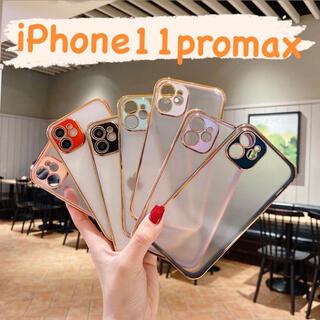 大人気型 iPhone11promax 背面クリアケース ソフトケース 韓国