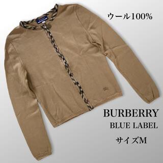 BURBERRY BLUE LABEL - 高級 バーバリーロンドン ノバチェックテープ ニットカーディガン 38 三陽商会