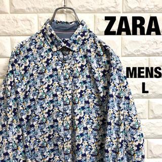 ザラ(ZARA)のZARA  ザラ 花柄 相当 長袖シャツ メンズLサイズ相当(シャツ)