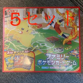 ポケモン(ポケモン)のファミリーポケモンカードゲーム  5セット(Box/デッキ/パック)