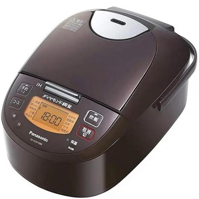 Panasonic(パナソニック)の【新品保証2022.7月】パナソニック 炊飯器 HVD1090 ブラウン  5. スマホ/家電/カメラの調理家電(炊飯器)の商品写真