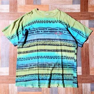 ベアー(Bear USA)の90's BEAR USA製 ジオメトリック Tシャツ(Tシャツ/カットソー(半袖/袖なし))
