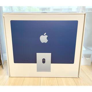 Apple - 【新品未使用品】iMac 24 M1 512GB ブルー AppleCare付