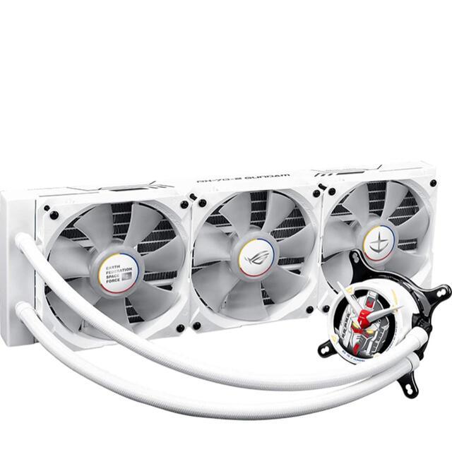 ASUS(エイスース)のROG STRIX lC360 RGB GUNDAM 水冷クーラー スマホ/家電/カメラのPC/タブレット(PCパーツ)の商品写真