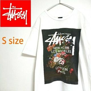 STUSSY - STUSSY ステューシー ビッグロゴ  白 Tシャツ 古着 デカロゴ