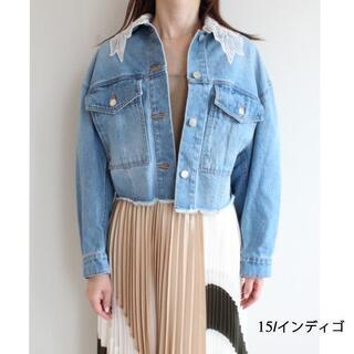 GRACE CONTINENTAL - ダイアグラム グレースコンチネンタル 刺繍衿デニムジャケット
