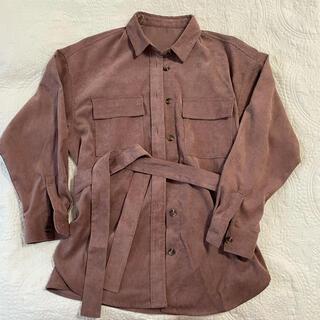 GU - コーデュロイベルテッドオーバーサイズシャツ