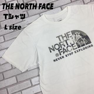 ザノースフェイス(THE NORTH FACE)の古着 THE NIRTH FACE ノースフェイス ロゴ tシャツ メッシュ L(Tシャツ/カットソー(半袖/袖なし))