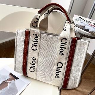 クロエ(Chloe)の【極美品 】クロエ 「WOODY」ミディアムトートバッグ 新品未使用(その他)
