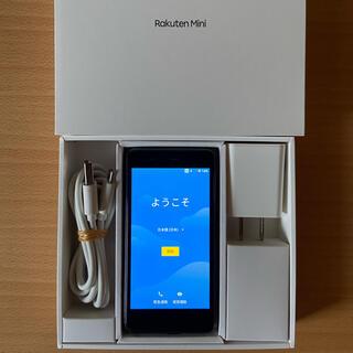 ラクテン(Rakuten)の楽天ミニ ブラック Rakuten Mini C330(スマートフォン本体)