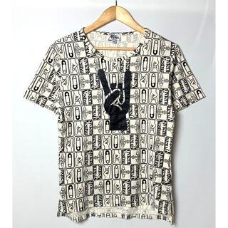 ヴィヴィアンウエストウッド(Vivienne Westwood)のヴィヴィアンウエストウッド マン オーブ ロゴ 総柄Tシャツ ベージュ 46(Tシャツ/カットソー(半袖/袖なし))