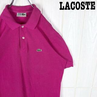 ラコステ 半袖ポロシャツ 鹿の子 刺繍ワンポイント胸ロゴ スペイン製 綿100%