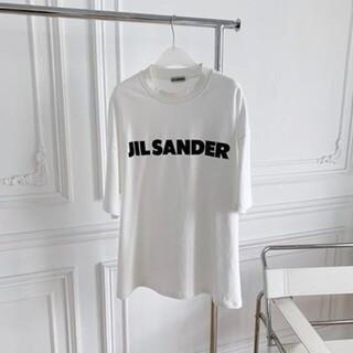 Jil Sander - 【新品未使用】JIL SANDER ロゴ プリント コットン TシャツL
