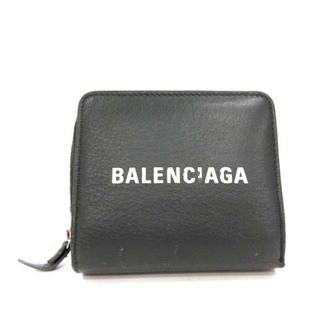 Balenciaga - バレンシアガ エブリデイ 二つ折り財布 レザー ロゴ グレー