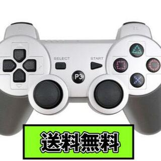 PS3 コントローラー シルバー Silver 銀色 Bluetooth 互換品(その他)